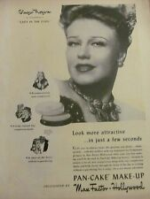 Ginger Rogers, Max Factor, Full Page Vintage Print Ad