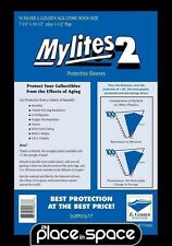 """50 SILVER / GOLD COMIC SIZE MYLITES 2 SLEEVES - 7 3/4""""  x 10 1/2"""" (SUPPLY677)"""