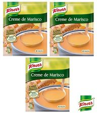 3x Portuguese Knorr Seafood Cream Gourmet Soup 72g Creme de Marisco Great Price!