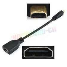 Micro HDMI Male Type D to HDMI Female A Jack Adapter Cable Convertor 1080P