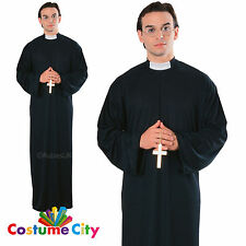 Adults Mens Holy Priest Vicar Fancy Dress Party Halloween Stag Do Night Costume
