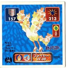 POKEMON STICKER Carte JAPANESE 50X50 1996 NORM@L N° 146 MOLTRES SULFURA
