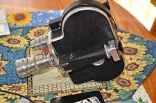 "Bolex Pallard 16mm  H 16-F 25 Camera w/3 Lenses Elgeet 13mm f1.5, Elgeet 1"" f1.9"