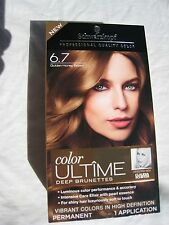 Schwarzkopf Ultime Hair Color Cream, 6.7 Golden Honey  Brown