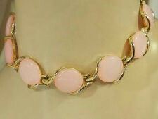 Pretty Pink Moonglow Thermoset Vintage 50's Necklace 442JL6