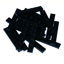Lego Black 1x6 Plate Thin Studded Brick - 20 Parts - 366626 3666 - NEW