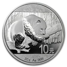 Chinese Panda 2016 30 gram .999 Silver Coin