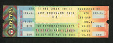 1981 U2 Unused Full concert ticket Boy Tour Red Creek Inn Rochester NY Rare