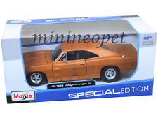 MAISTO 31256 1969 69 DODGE CHARGER R/T 1/25 DIECAST MODEL CAR ORANGE