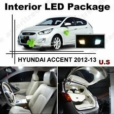White LED Lights Interior Package Kit for Hyundai Accent 2012-2013 ( 6 Pcs )