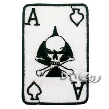 NAM ERA VIETNAM US ARMY NAM PATCH BLACK ACE SKULL DEATH CARD Crossbones