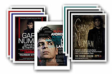 GARY NUMAN  - 10 promotional posters - collectable postcard set # 1