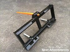 "Skid Steer Bale Spear Attachment w/39"" Quick Attach Loader 3000#  WD-1S"