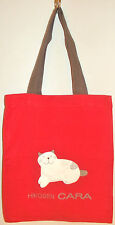 New 100% Cotton Girls Tote Bag Holdall Party Handbag Shopping Red Brown