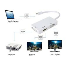 Thunderbolt Mini Display Port to HDMI VGA DVI Cable Adapter for MacBook Air Pro