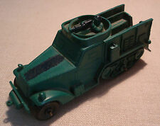 Vintage Green Rubber Army Halftrack Auburn Toy Made in USA