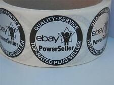 Ebay Top Rated Plus Seller Quality Service Label  bright silver foil 250/rl
