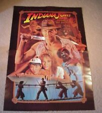 Vintage Indiana Jones 4 Posters set from Temple of Doom 1984 originals from 7up