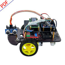 Ultrasonic Remote Control Smart Car DIY Robot Starter Kit for Arduino