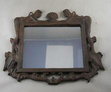 Iron Mermaids Holding A Shell Frame Mirror Nautical Wall Decor Wall Mirror Beach