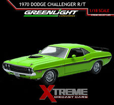 GREENLIGHT 12931 1:18 1970 DODGE CHALLENGER HEMI SHAKER R/T SUBLIME GREEN