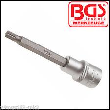 """BGS - 1/2 """" - spline (XZN) - M7 x 100 mm-bit socket-non tamper-PRO - 4432"""