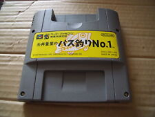 ITIO SHIGESATO NO BASS TSURI NO.1 SUPER FAMICOM JAP SNES GAME CART SATELLAVIEW