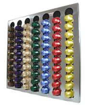 NEW Nespresso Coffee Capsules 70 Pods Wall Holder/Dispenser Stainless Steel