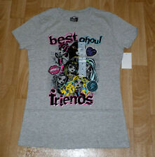MONSTER HIGH  BEST GHOUL FRIENDS GLITTER SHIRT SIZE MEDIUM 10-12 NEW TAGS