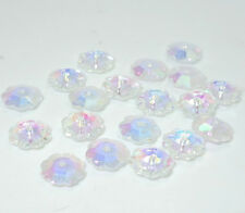 30pcs Flatback Plum flower CRYSTAL glass loose beads 10mm  Variety of colors