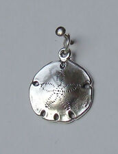SAND DOLLAR SEA COOKIE SNAPPER 3D CHARM 925 STERLING SILVER