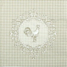 4x Single Table Party Paper Napkins for Decoupage Decopatch Craft Rooster Linen
