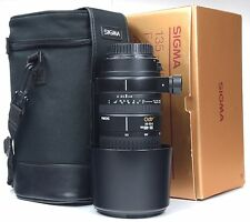 CANON EOS Sigma 135-400mm APO 4.5-5.6 + Hood + Case  - Boxed -