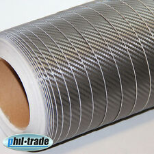 Carbon Folie grau anthrazit 1x 1,5 m Carbon Look Wrapping 3D Struktur blasenfrei