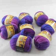 SALE 8 Skeins x 50gr NEW Chunky Colorful Hand Knitting Wool Yarn 813 Blue lilac