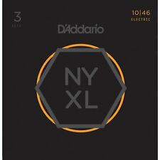 3 Sets of D'Addario NYXL1046 Nickel Wound Regular Light Electric Guitar Strings