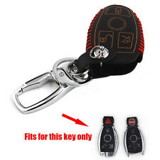 PU Leather Smart Remote Key Case Cover Fob Holder For Benz C/CL/E/R/GL/SLK Class