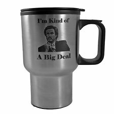 14oz I'm Kind Of A Big Deal  Ron Burgundy Stainless Steel Travel Mug W/Handle L1