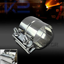 """2.5"""" Turbo Exhaust Downpipe Catback Muffler Pipe Band Clamp+Bolts"""