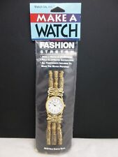 NEW Vintage Make A Watch Kit: Includes Gold Tone Beads, Stretch Elastic & More!!