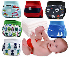 6PC lot Gladbaby Reusable diaper cover waterproof  +6insert quick dry diapers