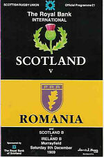 Écosse V Roumanie 1989 rugby programme