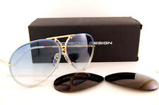 New Porsche Design Sunglasses P8478 8478 W Gold Interchangeable Lenses Men Women