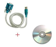 USB to RS232 DB9 Male Adapter 9-pin Serial Cable & Driver CD Windows 7/8/10