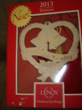 LENOX 2013 WEDDING BELLS  ORNAMENT 3.75 INCHES TALL 838817