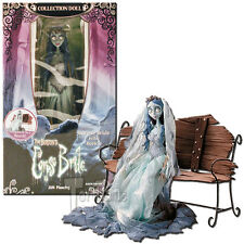 Tim Burton's Corpse Bride Emily & Bench Collector Doll Previews Exc- PKG FLAWED