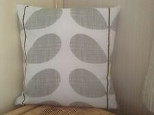 "Handmade Cushion Cover using Orla Kiely Grey Stem fabric- 14"" X 14"" Reversible"