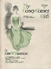 "ANTIQUE SHEET MUSIC - ""MY COSEY CORNER GIRL"" - JOHN W. BRATTON - LONDON (1903)"