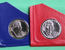 2016 P and D Jefferson Nickels 2 Coin BU Cellos from US Mint Set Five-Cent Coins