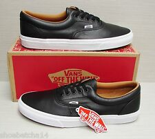 Vans Men's Era Premium Leather Black VN000Y6XEW9 Size: 12